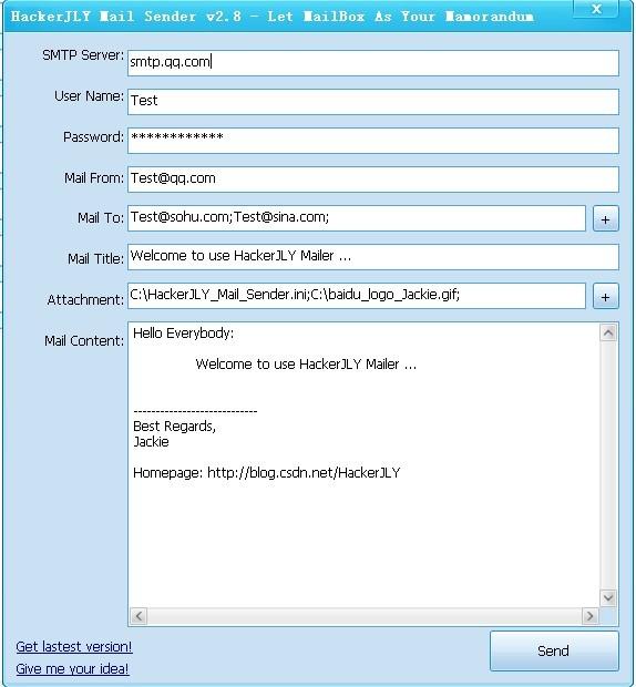 HackerJLY Mail Sender